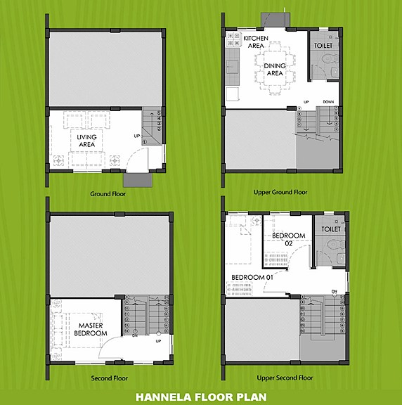 Hannela Floor Plan House and Lot in General Trias