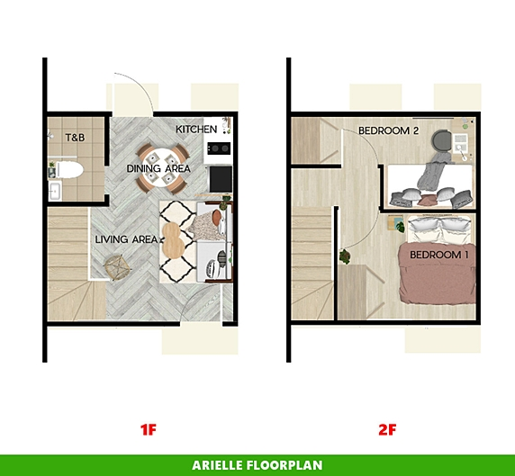Arielle Floor Plan House and Lot in General Trias