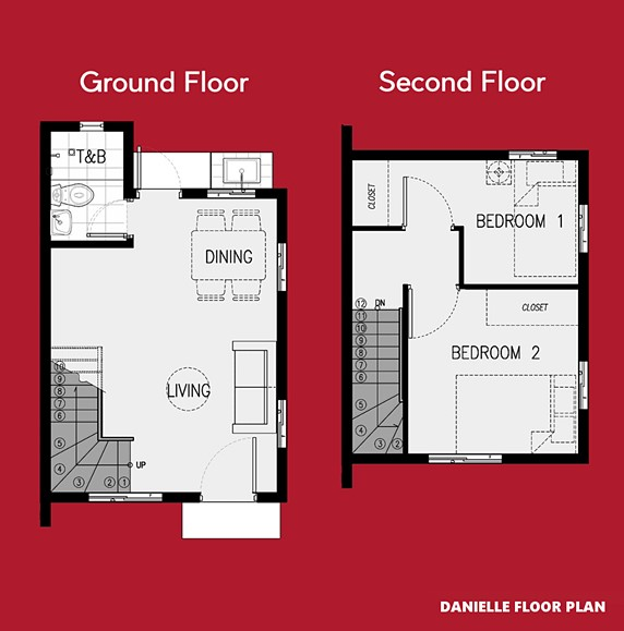 Danielle Floor Plan House and Lot in General Trias