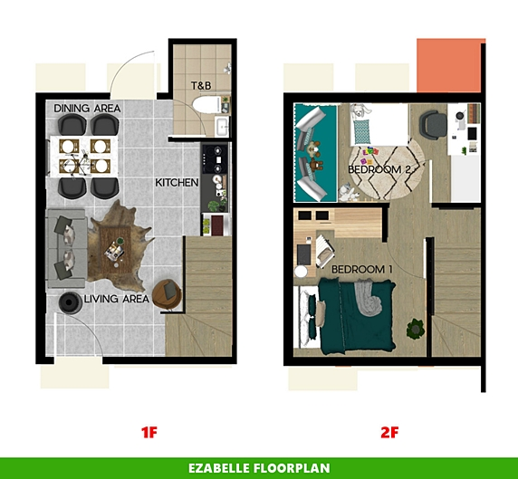 Ezabelle Floor Plan House and Lot in General Trias