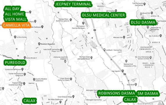 Vita Property Vicinity Map