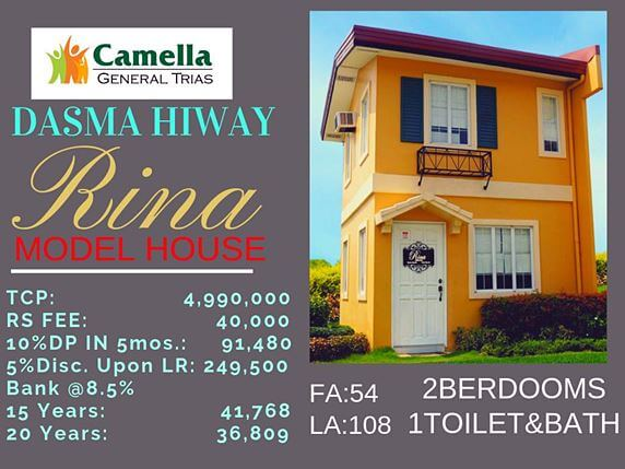 RFO Houses for Sale in Camella Vita.